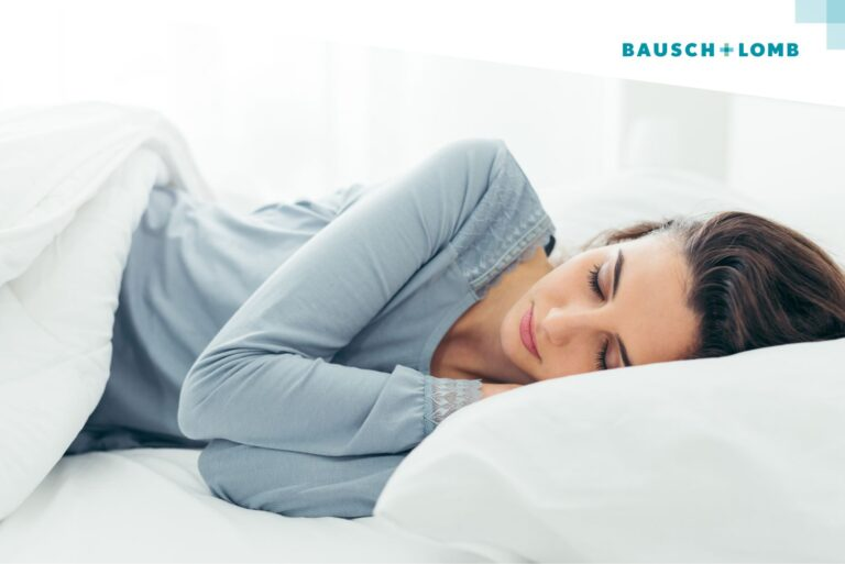 czy można spać w soczewkach
