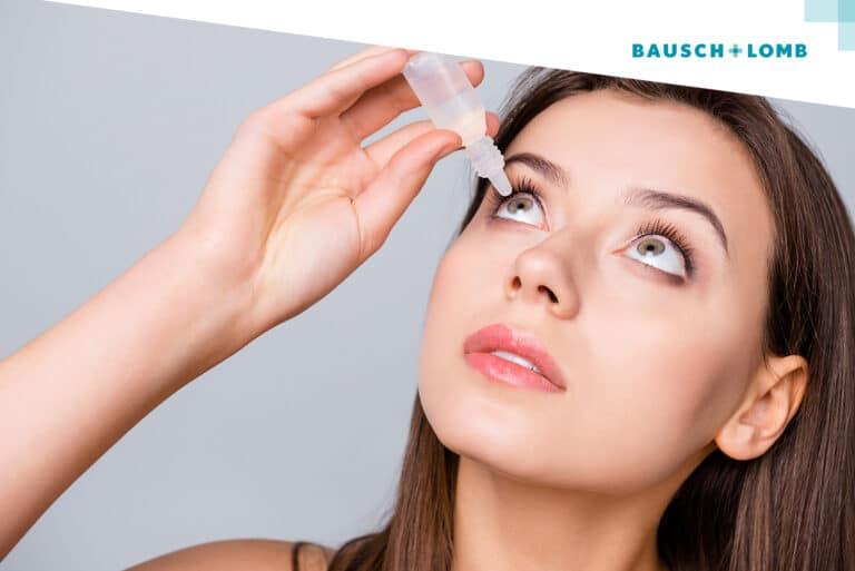 Jakich kropli do oczu używać, nosząc soczewki Bausch+Lomb?