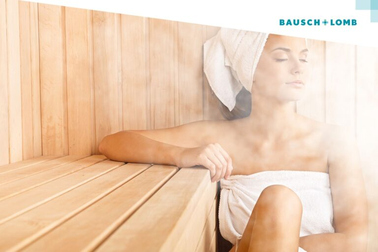 Sauna i soczewki, czy można nosić soczewki kontaktowe w saunie?
